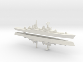 HMS Bristol x 2, 1/2400 in White Natural Versatile Plastic