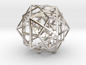 Nested Platonic Solids in Rhodium Plated Brass