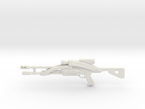 Mass Effect 1:6 M-92 Mantis Sniper Rifle in White Natural Versatile Plastic