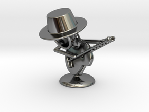 "Lala ""Playing Guitar"" - DeskToys in Fine Detail Polished Silver"