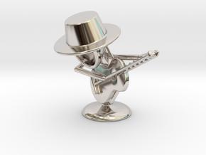 "Lala ""Playing Guitar"" - DeskToys in Rhodium Plated Brass"