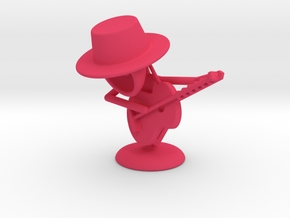 "Lala ""Playing Guitar"" - DeskToys in Pink Processed Versatile Plastic"