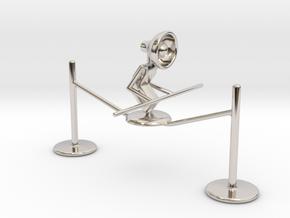 "Lala ""Walking on rope"" - DeskToys in Rhodium Plated Brass"