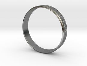Ring Ornament love you in Fine Detail Polished Silver