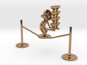 "Lala ""Walking in rope & balancing wine glass"" - De in Polished Brass"