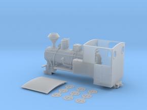 Feldbahn Dampflok Krauss C-Kuppler Spur 0e/f 1:45 in Smooth Fine Detail Plastic