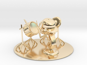 "Lala ""Trying Drums"" - DeskToys in 14k Gold Plated Brass"