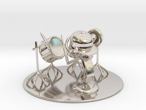 """Lala """"Trying Drums"""" - DeskToys in Rhodium Plated Brass"""
