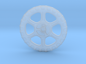 Steampunk Button A in Smooth Fine Detail Plastic