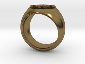 Bitcoin Ring in Polished Bronze