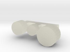 L Wiener Linien Scheinwerfernägel in Transparent Acrylic