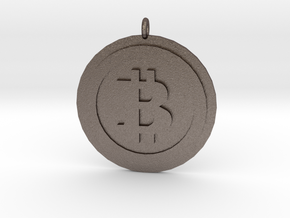 "Bitcoin ""We Use Coins"" Style in Polished Bronzed Silver Steel"