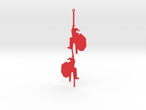 Santa Claus climbing tree 2 in Red Processed Versatile Plastic