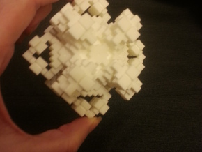 Crystal-like Cubic Complex in White Natural Versatile Plastic