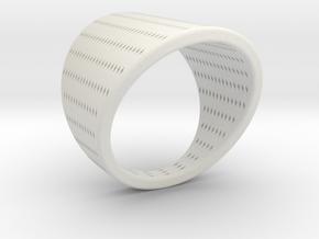 EMI Ring Nº10 in White Natural Versatile Plastic
