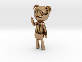 Among the Sleep Teddy Bear in Polished Brass