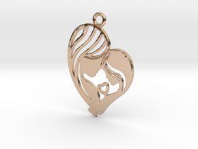 Mother Pendant in 14k Rose Gold Plated Brass
