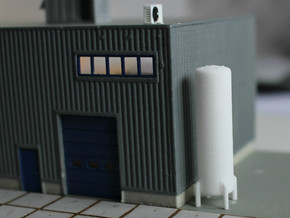 N Scale Cryogenic Tank 38mm in White Natural Versatile Plastic