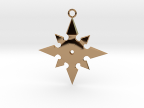 Star Pendant (MK9) in Polished Brass
