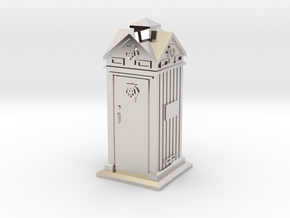 35mm/O Gauge AA Phone Box in Rhodium Plated Brass