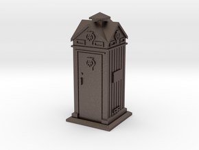 35mm/O Gauge AA Phone Box in Polished Bronzed Silver Steel