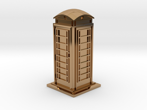 35mm/O Gauge Phone Box in Polished Brass