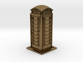 35mm/O Gauge Phone Box in Polished Bronze