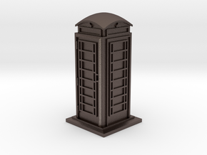 35mm/O Gauge Phone Box in Polished Bronzed Silver Steel