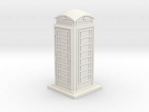 35mm/O Gauge Phone Box in White Strong & Flexible