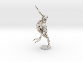 Youth & Mermaid in Rhodium Plated Brass