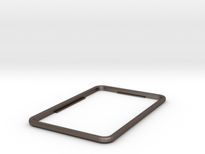 Replacement bezel for Fridge Optimizer in Polished Bronzed Silver Steel