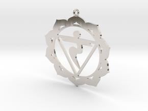 Solar Plexus Chakra Necklace in Rhodium Plated Brass