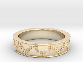 3D Printed Victory Ring | Men Size 9  in 14K Yellow Gold
