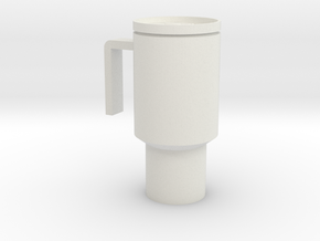 1/6 Scale Coffee Mug in White Strong & Flexible