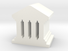 Game Piece, Roman Temple, Palace in White Processed Versatile Plastic