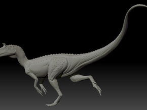 1/40 Cryolophosaurus - Running in White Natural Versatile Plastic