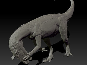 1/40 Cryolophosaurus - Preening in White Strong & Flexible