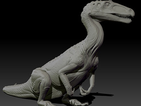 1/40 Cryolophosaurus - Sitting in White Strong & Flexible