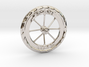 Pocket highway wheel set in Rhodium Plated Brass