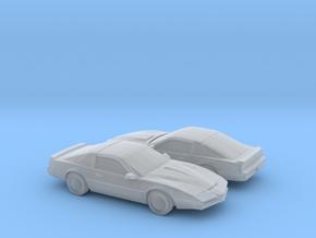 1/200 2X Pontiac Firebird Custom in Smooth Fine Detail Plastic