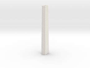 NV3M6 Small modular viaduct 1 track in White Natural Versatile Plastic
