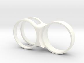 Film Canister Link - V2 in White Processed Versatile Plastic