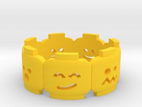 Yellow Brick Head Mood Ring in Yellow Processed Versatile Plastic: 6 / 51.5