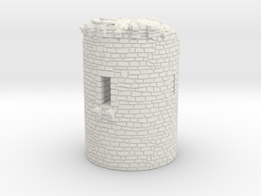 NF50 Ruined tower in White Natural Versatile Plastic