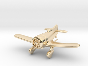 1:144 Gee Bee Model Z Racer Plane in 14k Gold Plated Brass