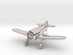 1:144 Gee Bee Model Z Racer Plane in Rhodium Plated Brass
