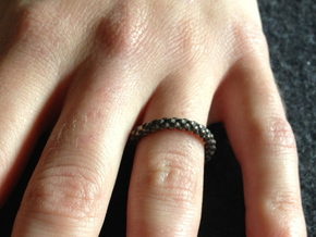 6-strand Round Braid Ring in Stainless Steel