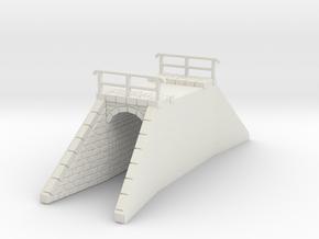 NPTR3 Railway bridges on road in White Natural Versatile Plastic