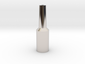Tuba Mouthpiece Resistance Tool  in Rhodium Plated Brass