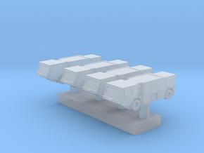 1:700 Scale Oshkosh P-19 Fire Trucks (x4) in Smooth Fine Detail Plastic